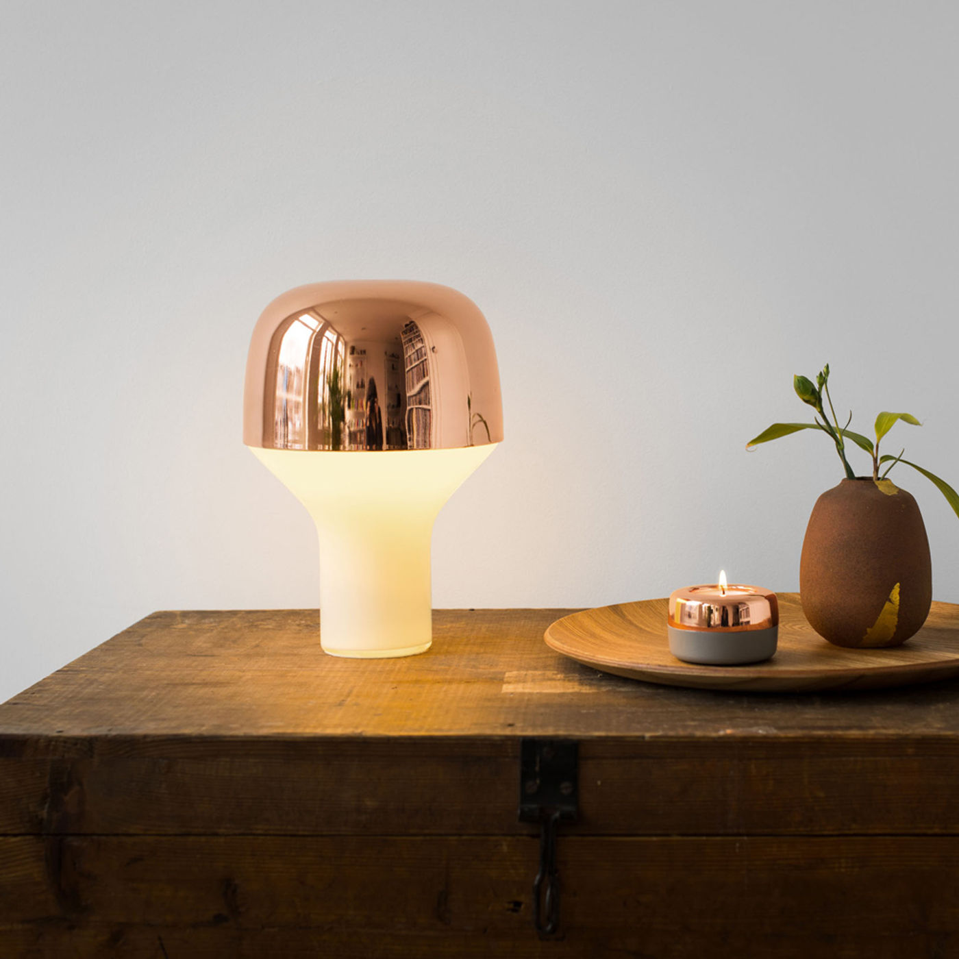 Copper Cap Table Light   Bombinate