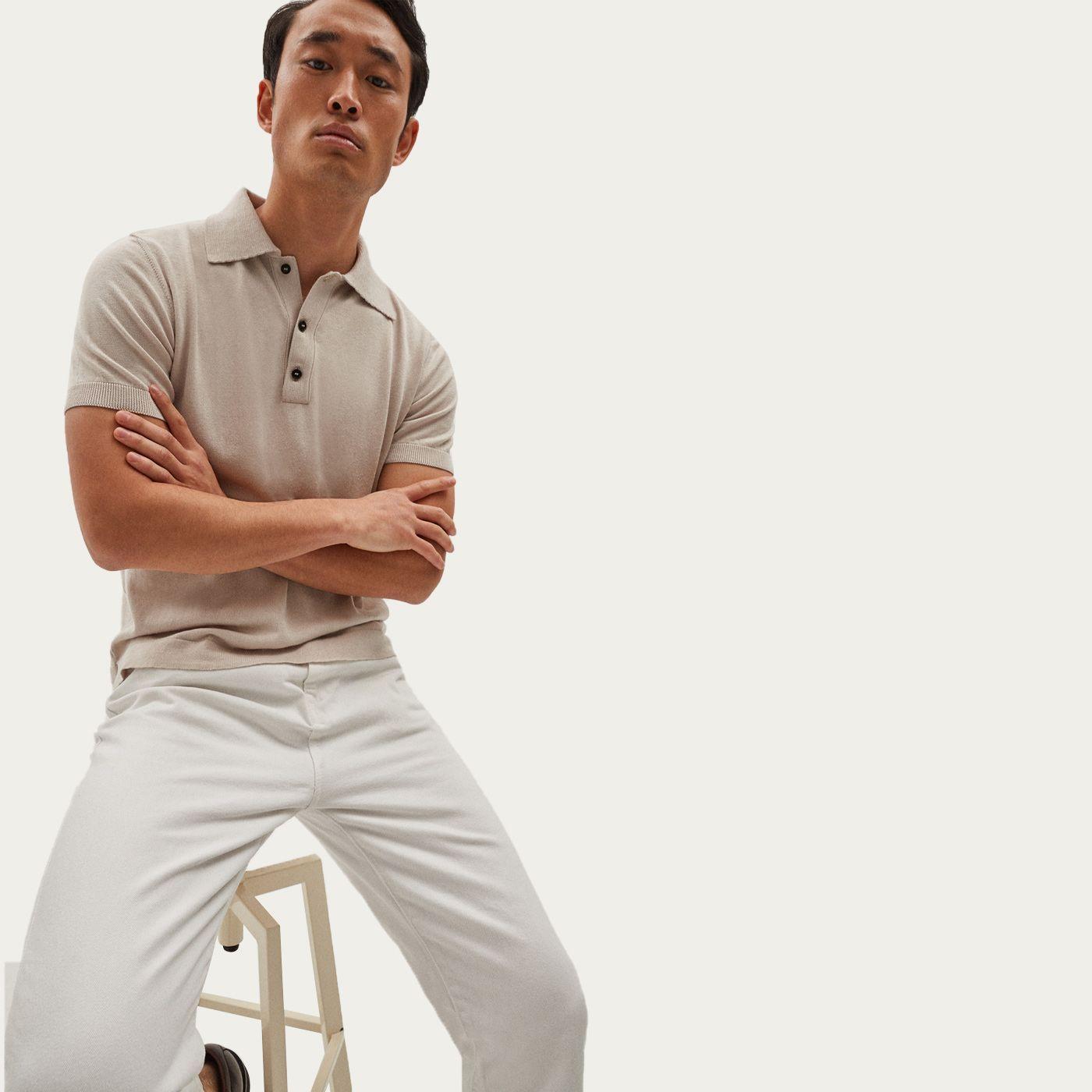 Pearl Lightweight Silk Polo   Bombinate