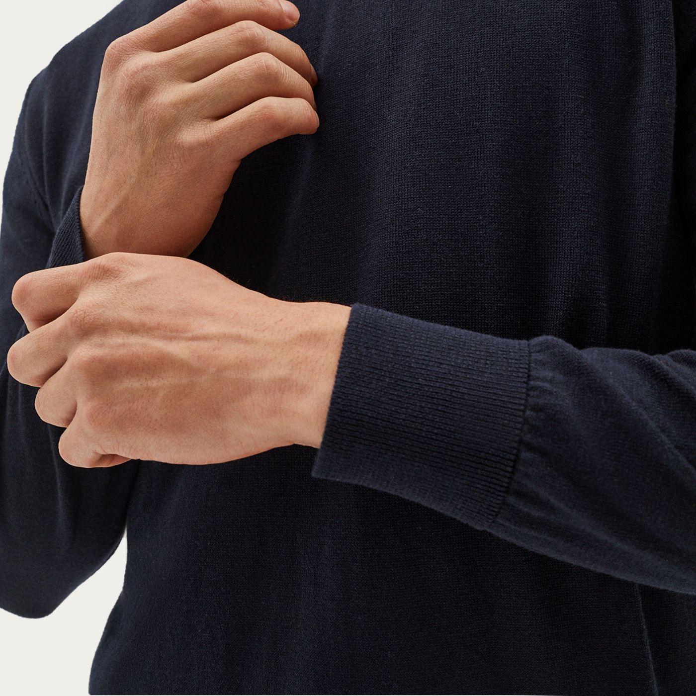 Blue Lightweight Silk Sweater   Bombinate