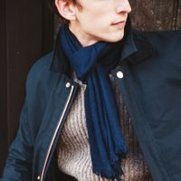 The Himalayan Navy Cashmere Scarf  5