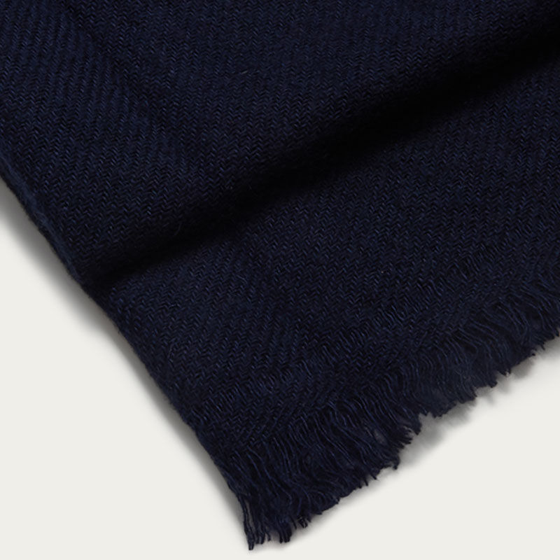 The Himalayan Navy Cashmere Scarf  2