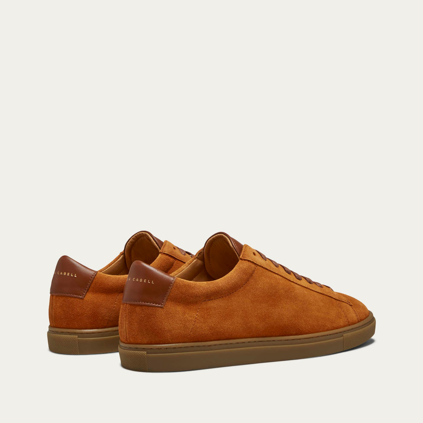 Camel Suede Low Split Sneakers   1