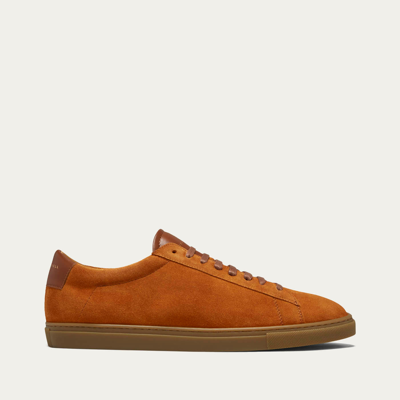 Camel Suede Low Split Sneakers   0