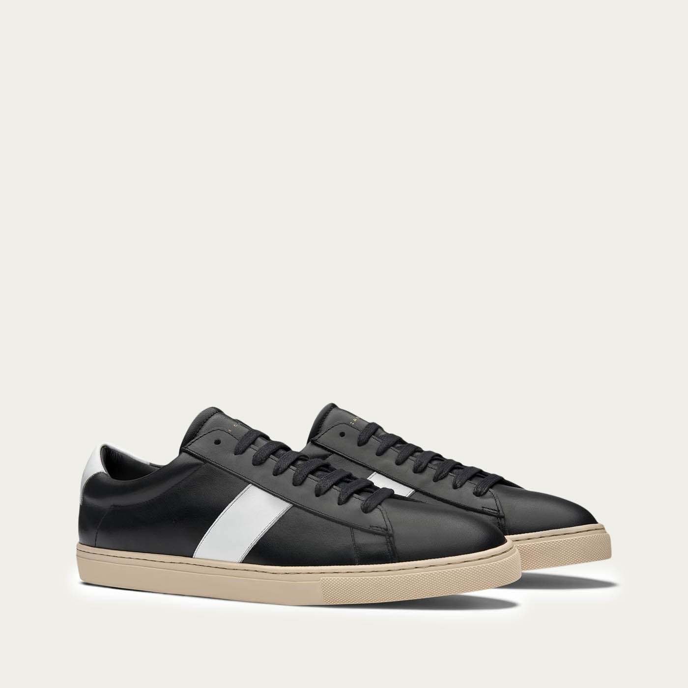 White Low Stripe Sneakers | Bombinate