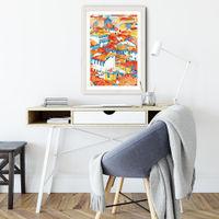 Verona Ulice Art Print White Frame | Bombinate