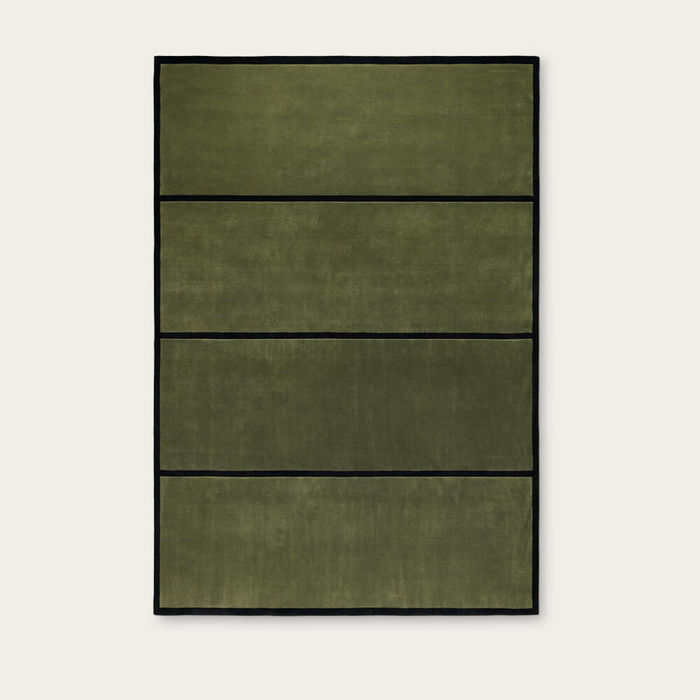 Green/Black 01 Norr Mälarstrand Rug | Bombinate