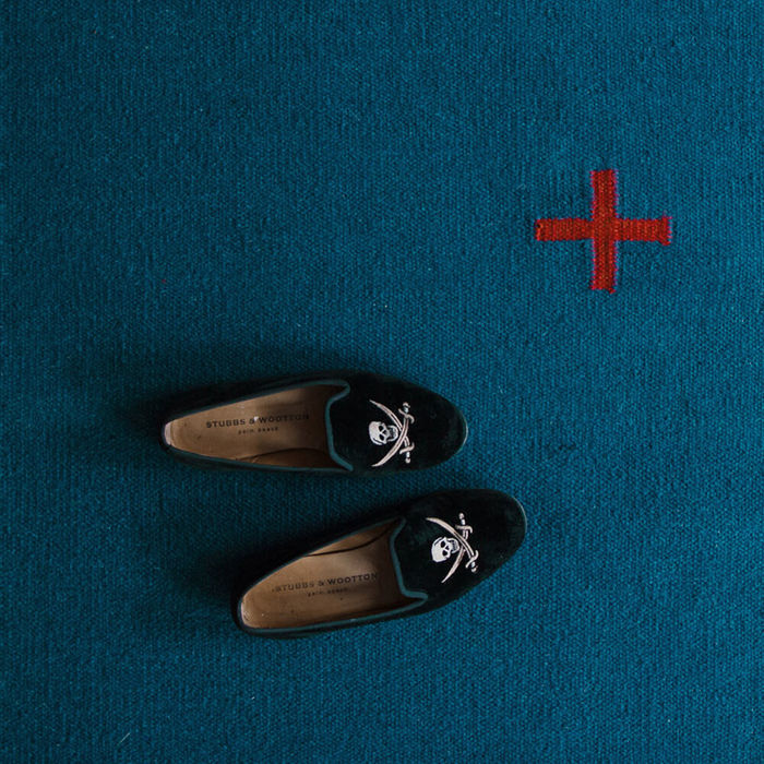 Blue/Red Plus Rug | Bombinate