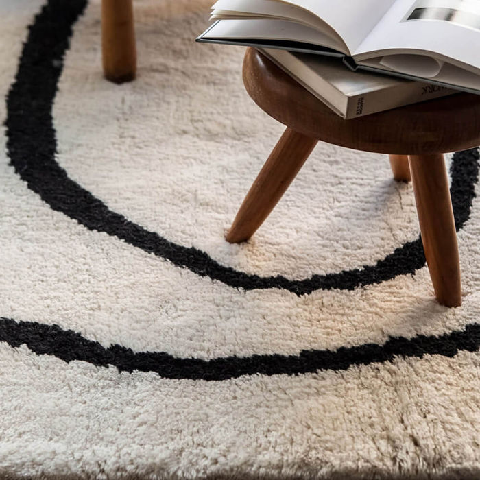 Dusty White Simple Object 18 Rug | Bombinate