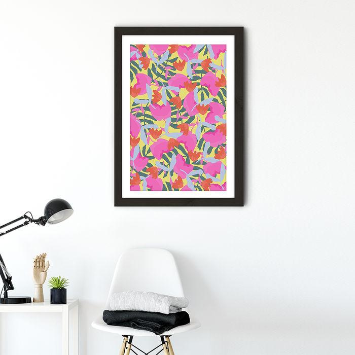 I'm Always Trying my Best Art Print Black Frame | Bombinate