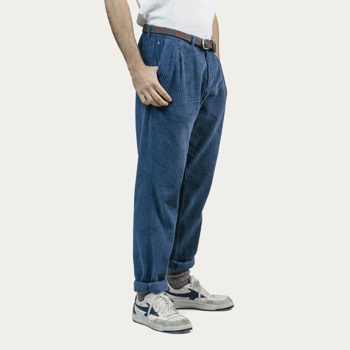 Indigo Corduroy Pants | Bombinate
