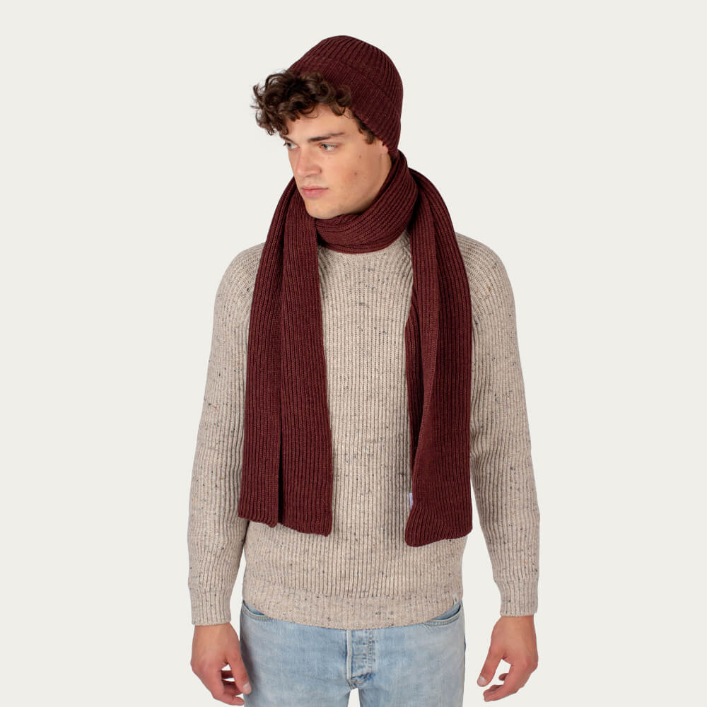 Shiraz Porter Ribbed Scarf | Bombinate