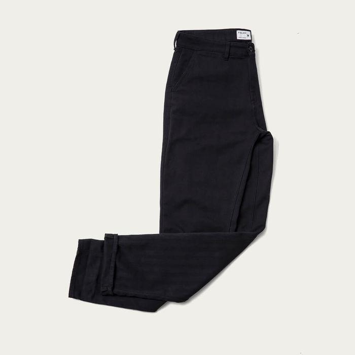 Black Beauty Cotton Straight Leg Trouser | Bombinate