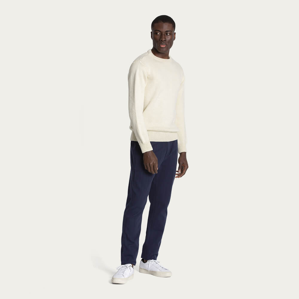 Ecru/Natural 1Kg Wool & Linen Sweater | Bombinate