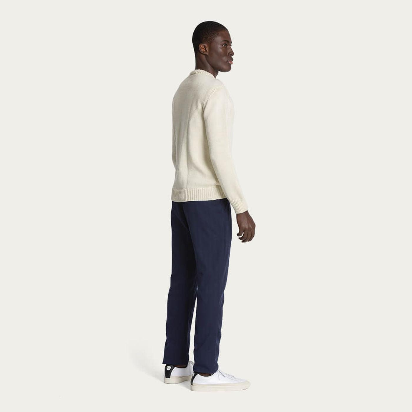 Ecru/Natural 1Kg Wool & Linen Sweater | Bombinate