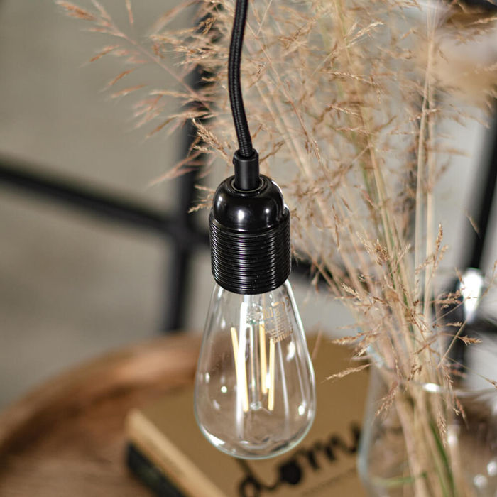 Black Taro 2-Pendant Light | Bombinate