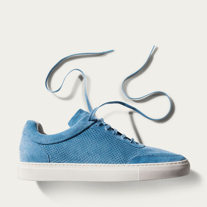 No-2 Santorini Blue Breathable Sneakers | Bombinate