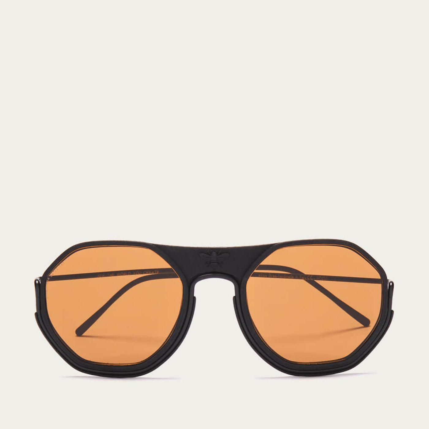 Black/Black/Brown Sting Sunglasses | Bombinate