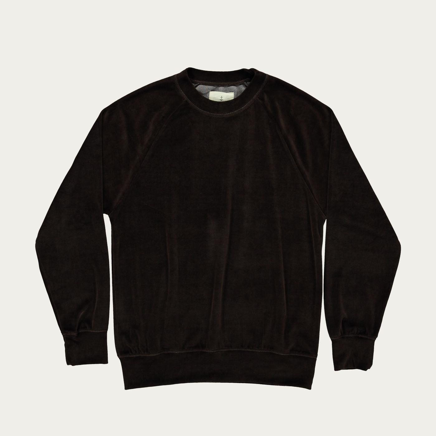 Chocolate Velour Cunha Sweatshirt | Bombinate