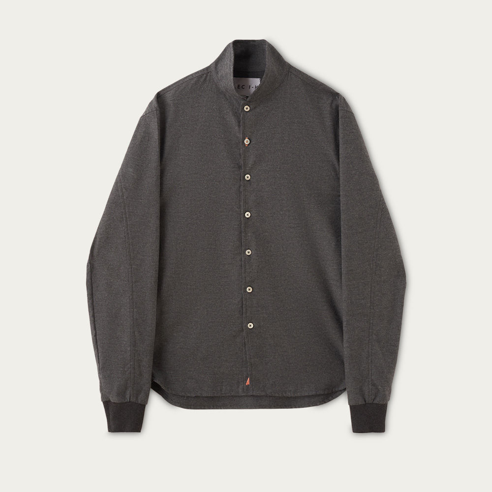Charcoal Luxury Cashmere Blend Shawl Collar Casual | Bombinate