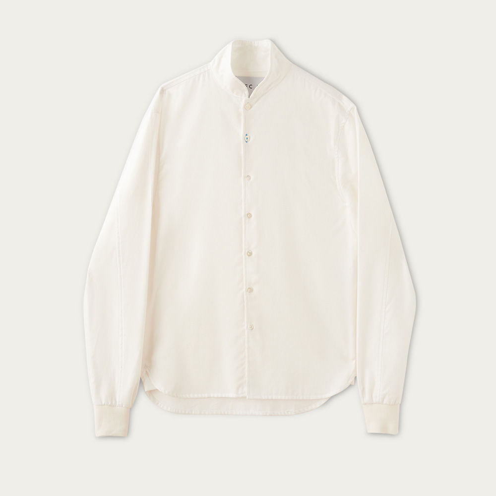 Polar White Cotton Shawl Collar Casual Shirt  | Bombinate