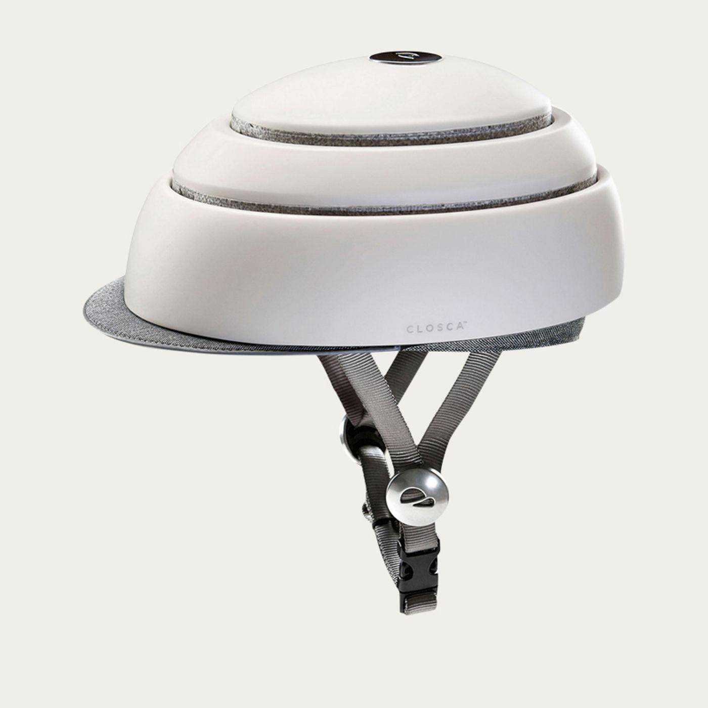 White Closca Fuga Bike Helmet  | Bombinate