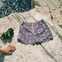 Rosso/Blu Maestrale Swim Shorts | Bombinate