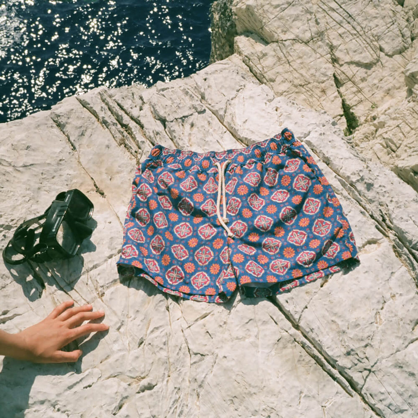 Rosso/Blu Maestrale Swim Shorts   Bombinate
