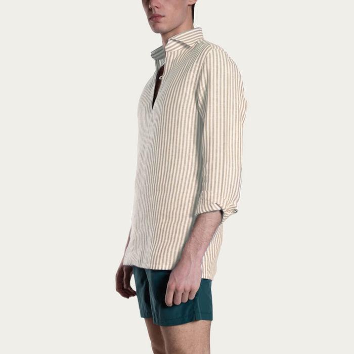 Sabbia Camicia Capri Righe Shirt | Bombinate