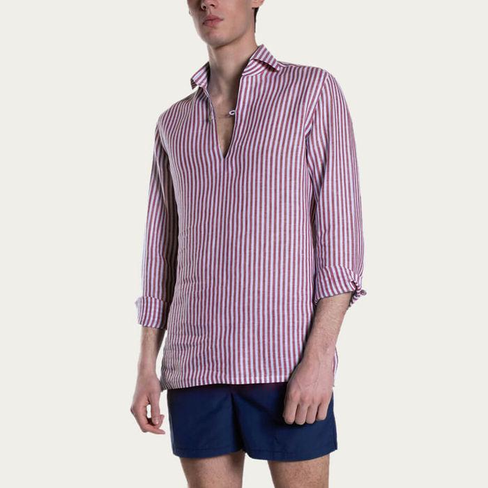 Rosse Camicia Capri Righe Shirt   Bombinate