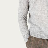 Grey Alp Knitted Jumper | Bombinate