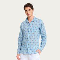 Light Blue Filicudi LS Linen Shirt | Bombinate