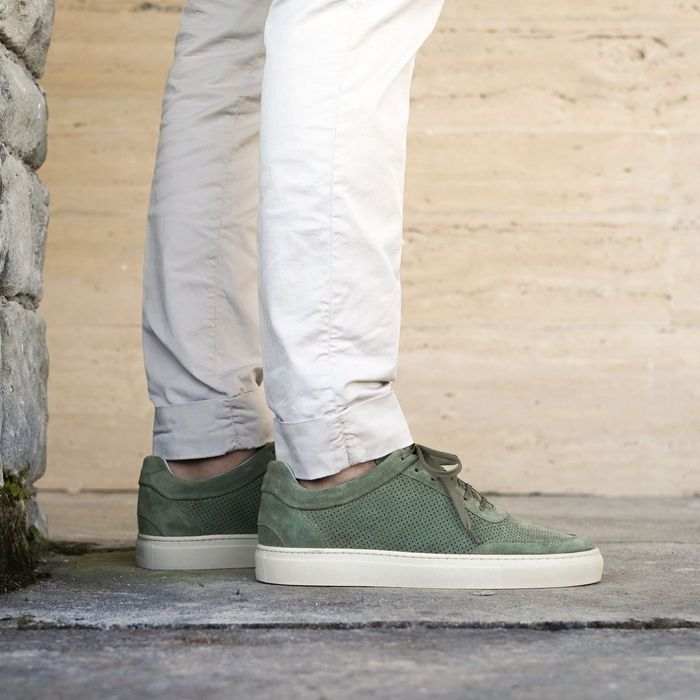 Faded Green Breathable Sneakers | Bombinate