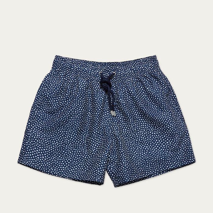 Dark Blue Abysses Swim Shorts | Bombinate