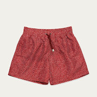 Dark Red Abysses Swim Shorts | Bombinate