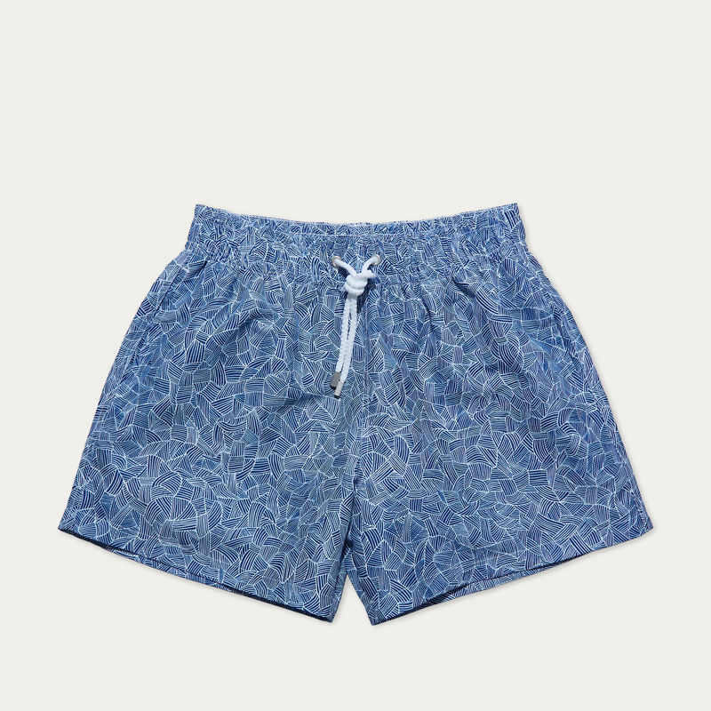 Blue Reflets Swim Shorts | Bombinate