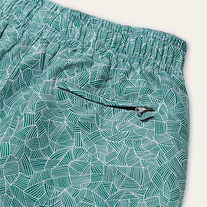 Green Reflets Swim Shorts | Bombinate