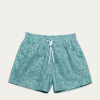 Green Reflets Swim Shorts | Bombinate