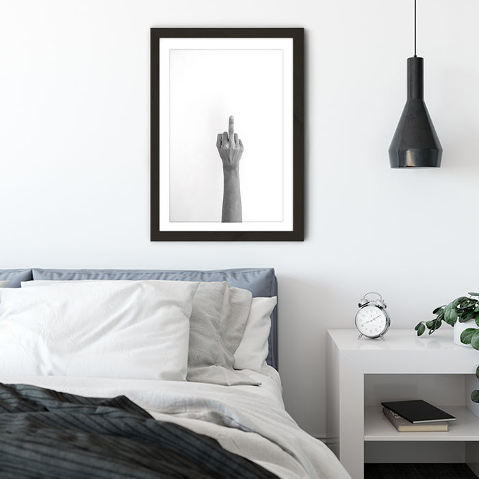 Hands 4 – No Words Needed Art Print Black Frame | Bombinate