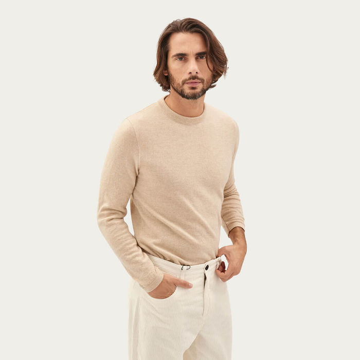 Cream The Round-Neck Cashmere | Bombinate