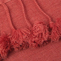 Lacquer Wanaka Cashmere Throw with Pompoms | Bombinate