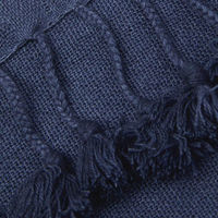 Peace Wanaka Cashmere Throw with Pompoms | Bombinate