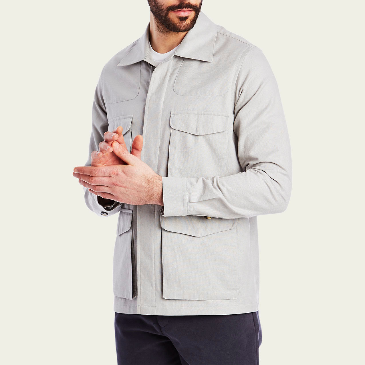 Dove Grey Desert Jacket  | Bombinate
