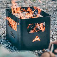 Corten Steel / Rusty Beer Box Fire basket | Bombinate