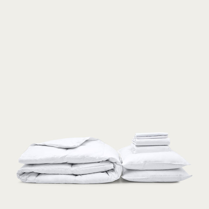 White Move-in Set Excellence Summer Duvet | Bombinate