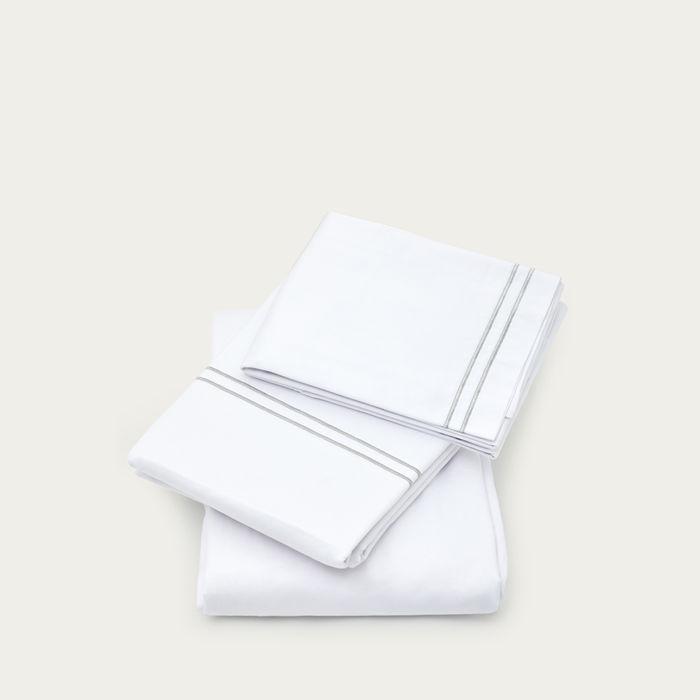 Grey The Cairo Collection Pillowcase | Bombinate