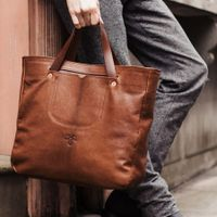 Chestnut Long Handle Gote  Bag | Bombinate
