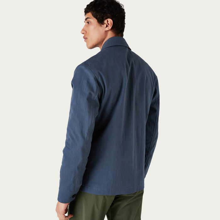 Brushed Blue Witham Coach Jacket | Bombinate