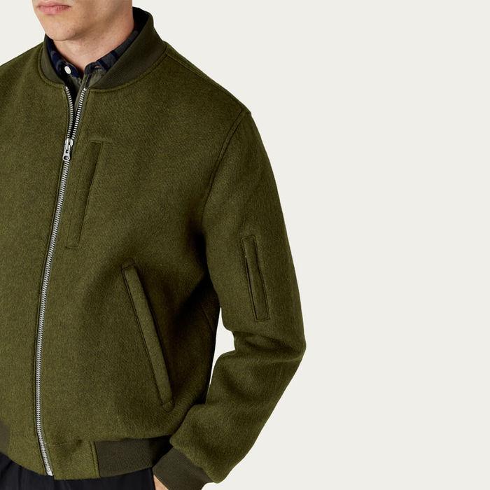 Khaki Skipton Bomber Jacket  | Bombinate