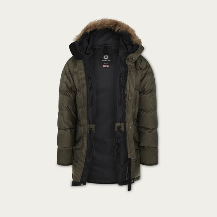 Olive Green Endurance Lightweight Down Parka | Bombinate