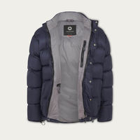 Navy Blue Wild Down Jacket | Bombinate